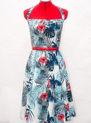 Vestido hawaiano años 50