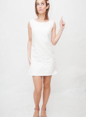 Vestido blanco corto Clearwater