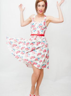 Vestido pin up de flores Hermosa Beach