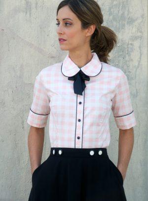 Camisa de cuadros rosa Cadillac