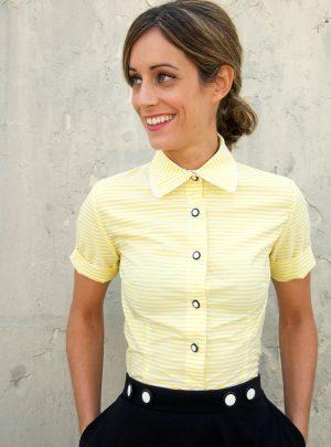 Camisa rayas amarillas Fairlady