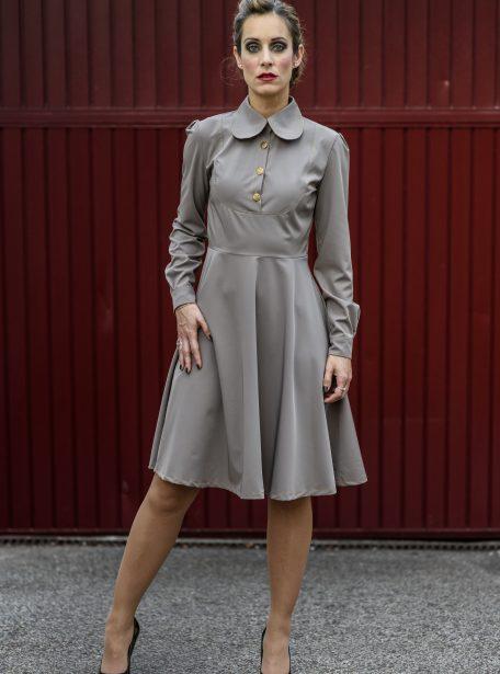 Vestido gris de manga larga Runaway