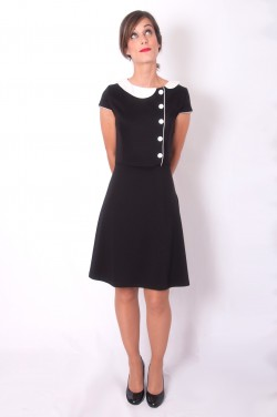 vestido negro manga corta little black dress