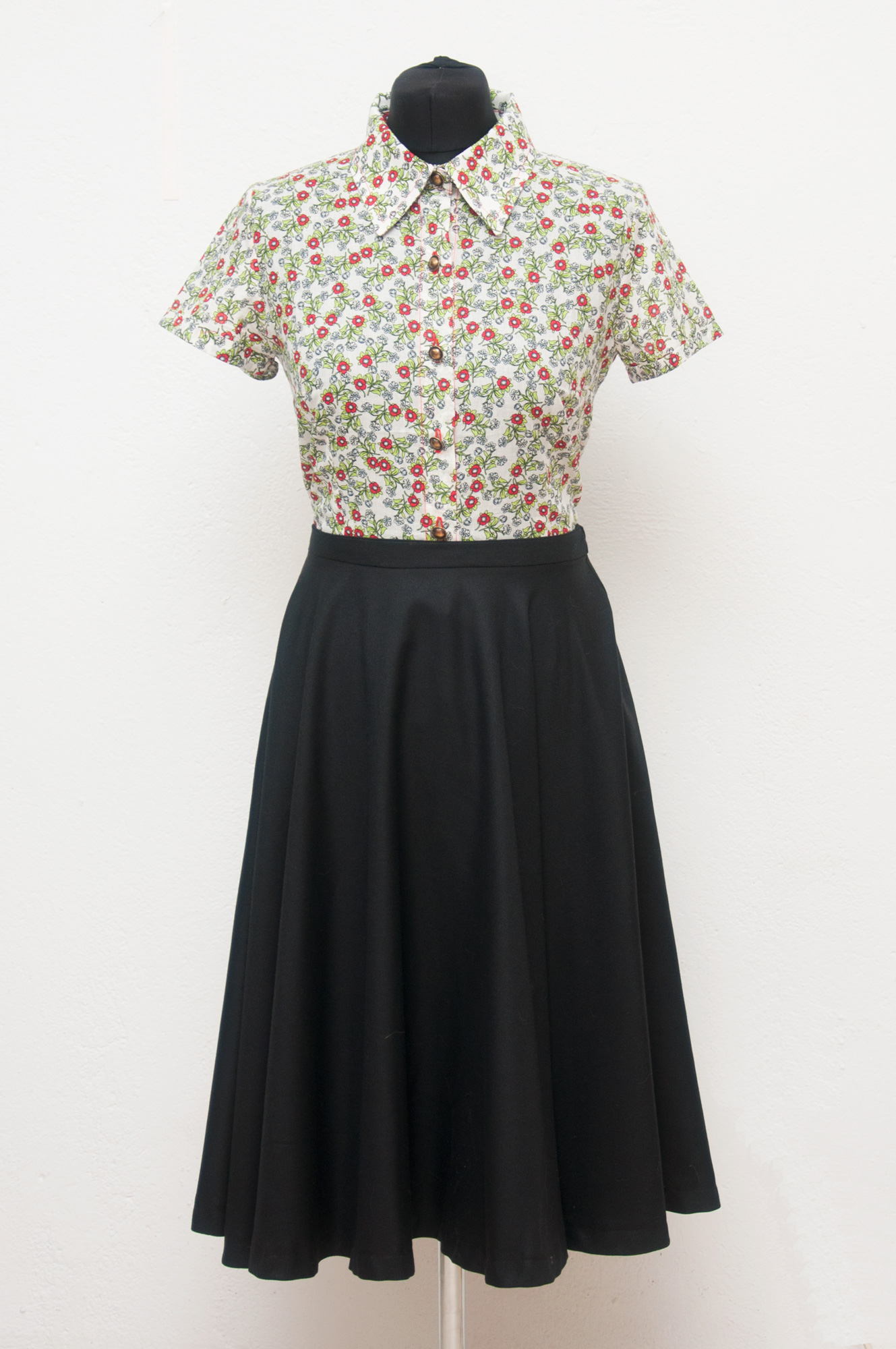 Camisa flores vintage