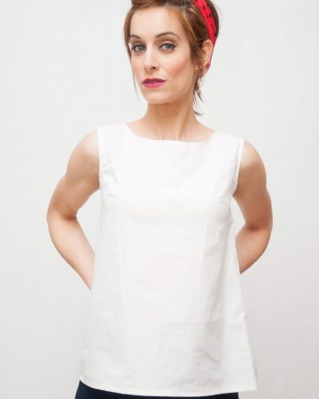 Blusa blanca espalda abierta-Lighthouse