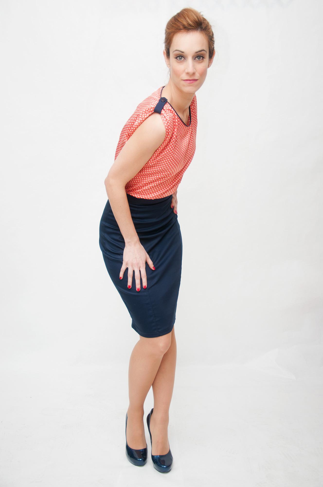 Falda tubo blusa seda Conjunto-Daytona