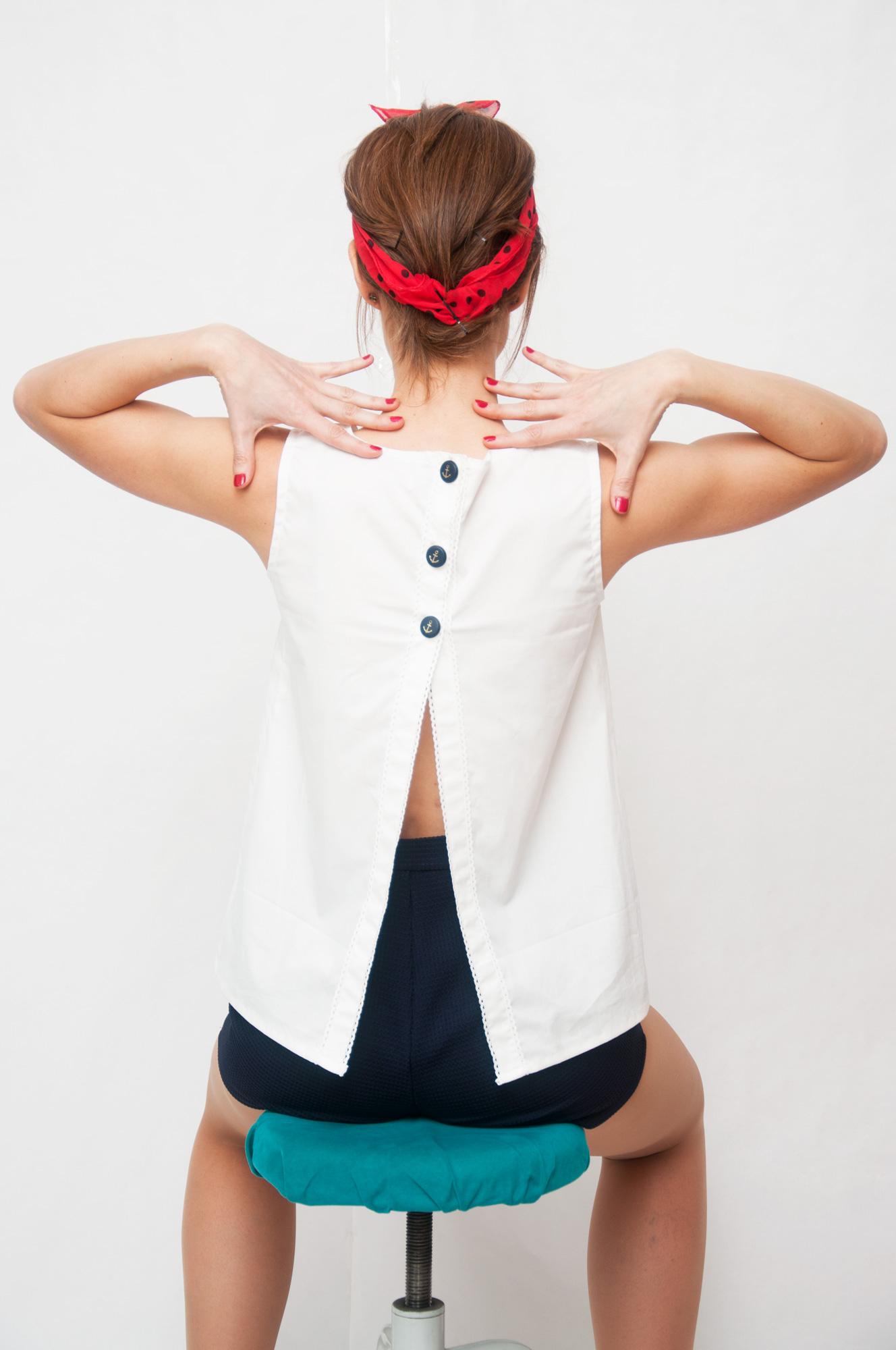 Blusa botones espalda descubierta Conjunto-Lighthouse-Espalda-1