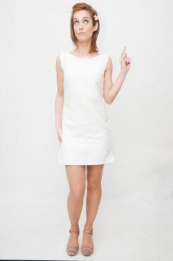 Vestido verano blanco años 60-Clearwater-1