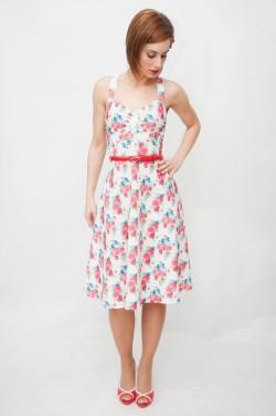 Vestido retro pin up flores Hermosa-Beach-2