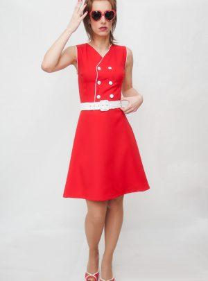 Vestido rojo marinero-Newport-1