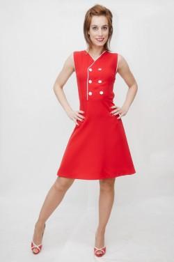Vestido rojo marinero Newport-2