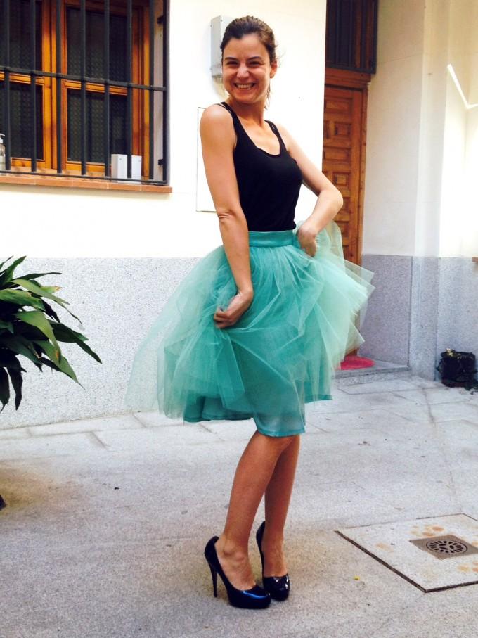 Inés-falda-tul