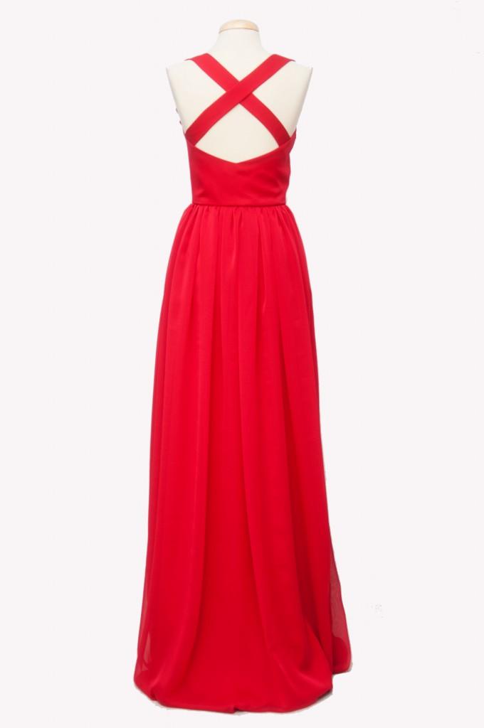 Vestido-gasa-rojo-largo-invitada-Franzi-espalda