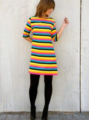 Vestido rayas colores Topolino