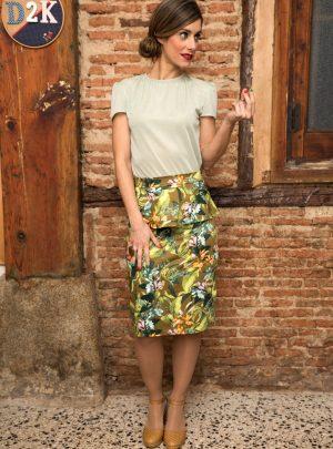 Falda con peplum Tropic