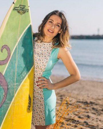 Vestido retro corto Sand Beach