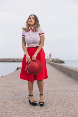 Camisa rayas rojas Petalos - Dresses2Kill SS18