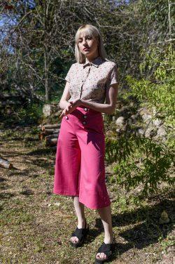 Pantalón culotte rosa