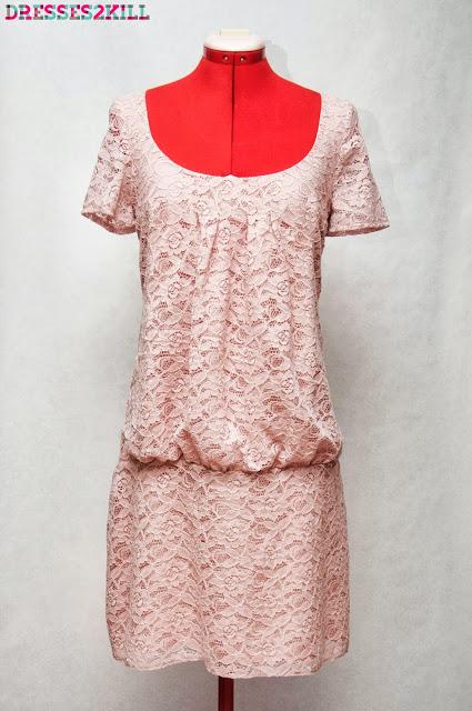 vestido encaje rosa