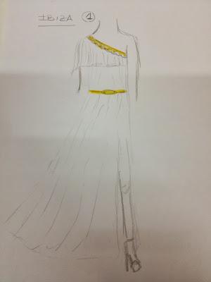 boceto vestido blanco boda ibiza