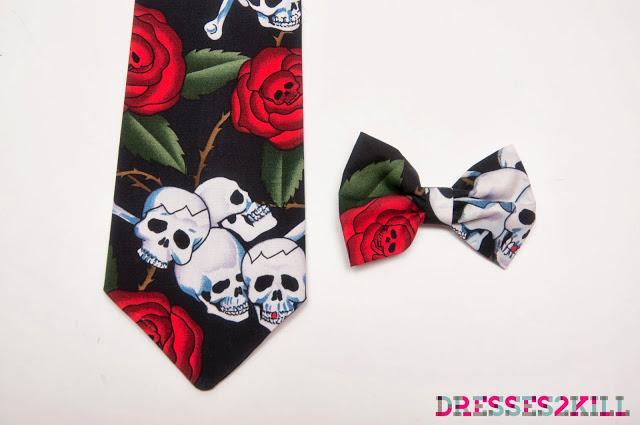 corbata pajarita calaveras